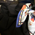 エルメスのスカーフを巻いて ルカルカ マザーズバッグ