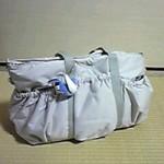 ルカルカ エアリー ギャザーポケット 2wayマザーズバッグ ライトグレー