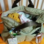 見た目以上に荷物が入るので驚いています ルカルカ マザーズバッグ