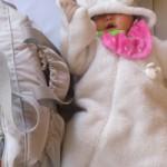 娘(5ヶ月)とバッグ ルカルカ マザーズバッグ専門店