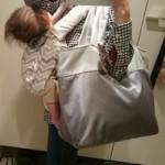 ルカルカ ナイロンコレクション ルナ トートマザーズバッグ シルバーグレー