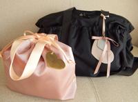 出産お祝いとして ルカルカ マザーズバッグとおむつポーチ