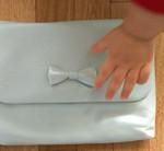 もっと早く出会いたかったです! レザー母子手帳ケース リボン クリームミント