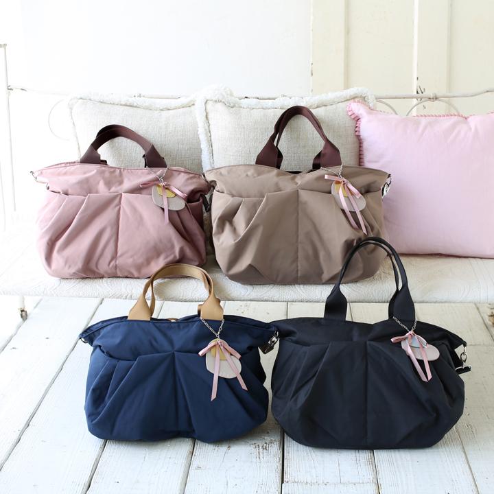 マザーズバッグ リュクスLサイズは、服装に合わせやすい4カラー展開です