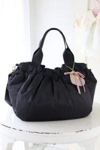 マザーバッグ 黒 日本製 ナイロン