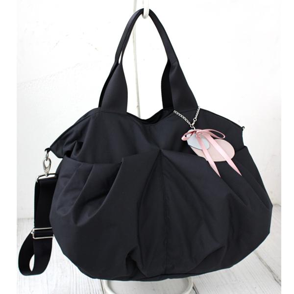 軽くて、大容量のマザーズバッグ ルカルカ リュクス 2wayマザーズバッグ Lサイズ ブラック
