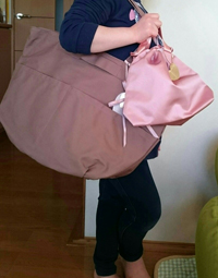 バッグを肩に掛けているのは娘です^_^;