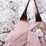 ベビーとお花見 ピンクのママバッグ