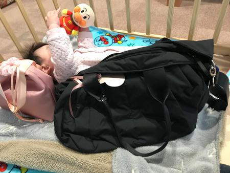 出産頑張ったし(笑)とのことでママバッグを購入