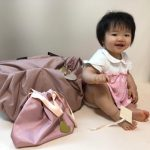 落ち着いたピンクのママバッグ、気に入りました