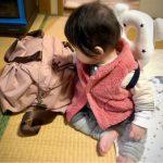 どんな服装にも合わせやすいピンクのマザーズバッグ