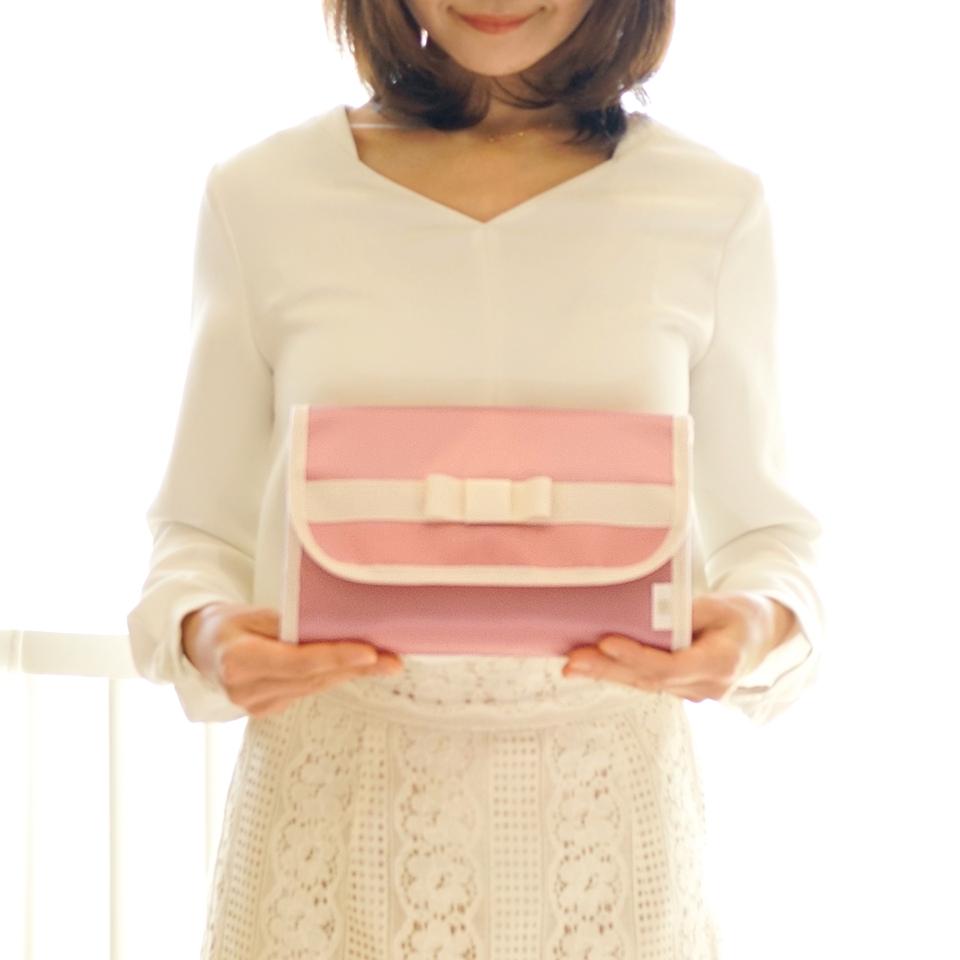 ピンクのリボン母子手帳ケース、ジャバラでおすすめ