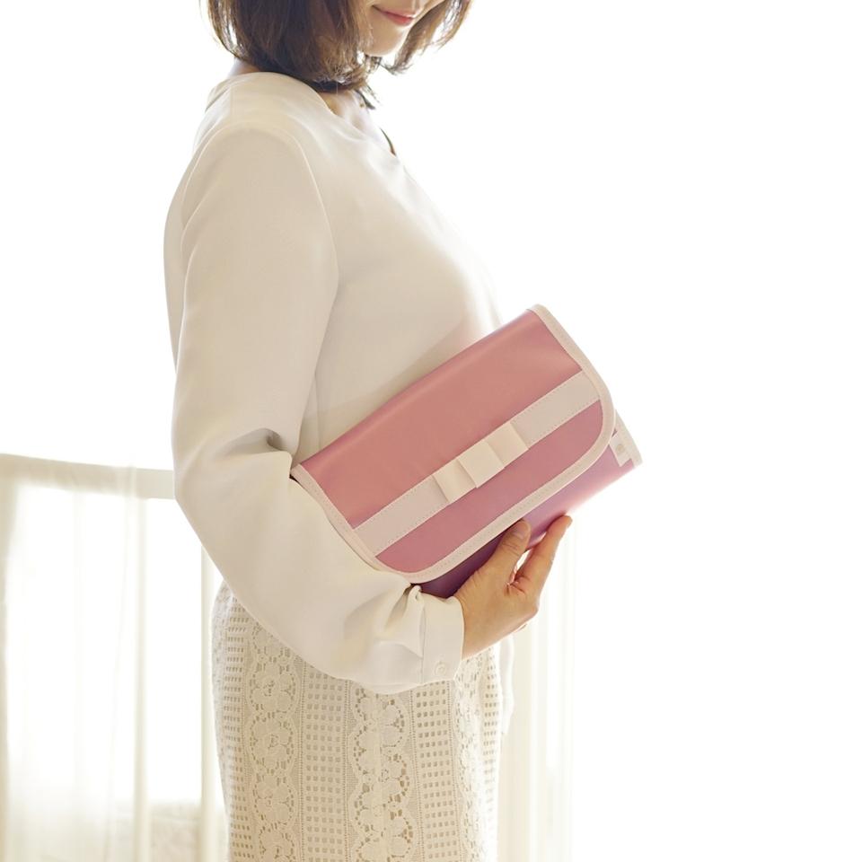 母子手帳ケース、ジャバラ、リボン、おすすめ、ピンク