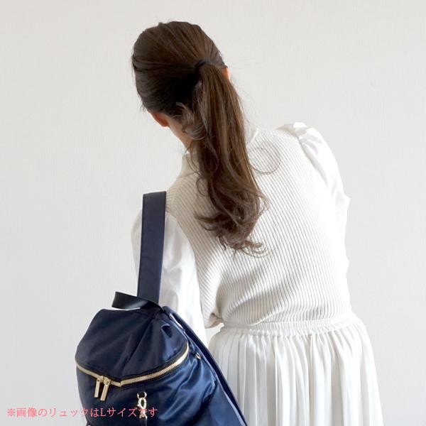 繊細な技術、安心と信頼の日本製ママリュック、独自の「滑り止め加工」で肩ベルトがずり落ちないママリュック