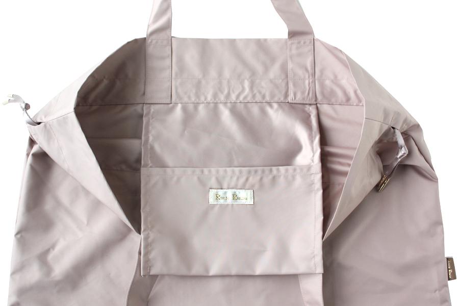 内側に収納ポケット、小さくたたんで持ち運びに便利なママのエコバッグ